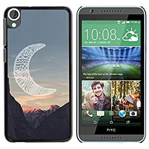 Design for Girls Plastic Cover Case FOR HTC Desire 820 Moon Native American Indian Canyon OBBA