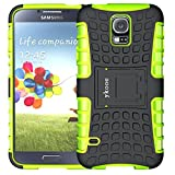 ykooe Phone Case for Samsung Galaxy S5 Case, (Armor Series) Galaxy S5 New Dual Layer Shockproof Case Silicone Phone Protective Cover with Kickstand for Samsung Galaxy S5 i9600