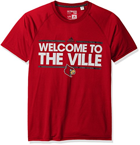 NCAA Louisville Cardinals Adult Men Dassler Local Climalite Ultimate S/Tee,X-Large,Red (Cardinal Football T-shirt)