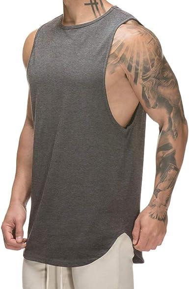 Men/'s Fashion Gym Casual Training Cotton Tank Top Vest Muscle Workout Undershirt