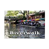 "CafePress - Riverwalk, San Antonio,TEXAS Rectangle Magnet - Rectangle Magnet, 2""x3"" Refrigerator Magnet"