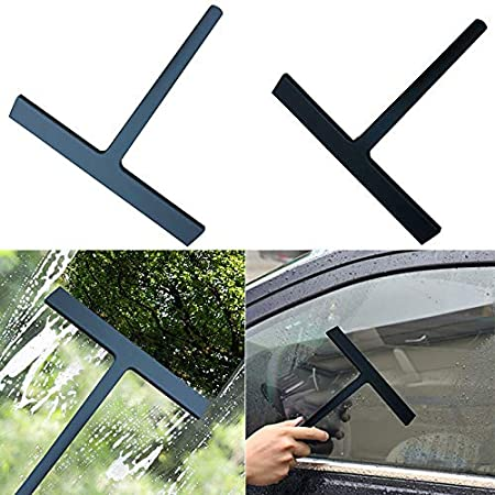jtxqy Silicone Wiper Shower Squeegee Streak-free Car Window Squeegee for Bathroom Mirror Tiles