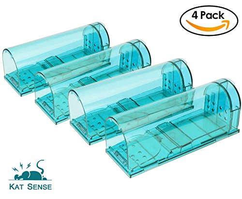 Humane Mouse Traps, Set of 4, Cruelty Free Live Catch Trap, Catch and Release Mice Into The Wild, Best No Kill Mice House, by Kat Sense by Kat Sense