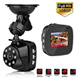 Cheap Mini High-end Car Dash Cam Guanchi 1.5 Inch LCD Display Full HD 1080P Car DVR Camera Recorder with 170° Wide Angle Support G-Sensor Night Vision Loop Recording Parking Monitoring(include 16GB TF Card)