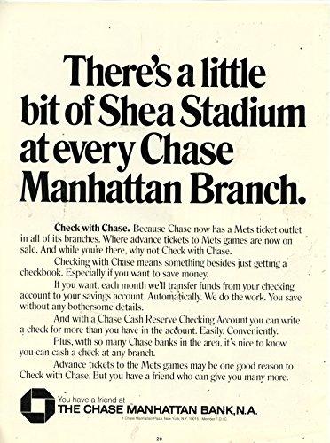 Little Branch (Vintage Chase Manhattan Bank Ad- New York Mets-