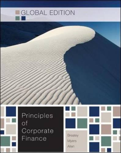 Principles of corporate finance, 10th edition by brealey; myers.