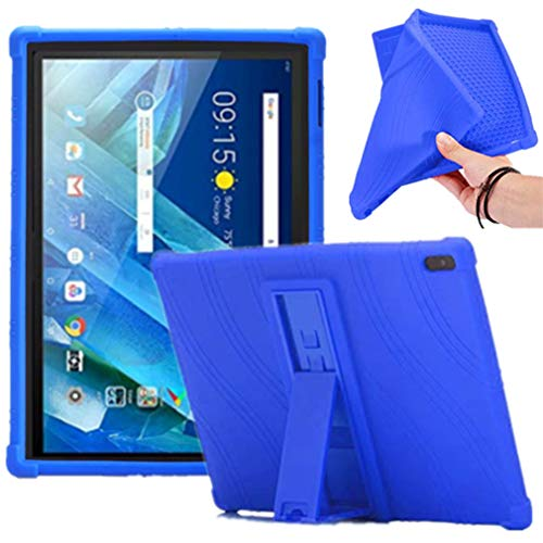 HminSen Compatible/Replacement for Lenovo Moto Tab Case, Ultra Slim Soft Silicon Rugged Back Stand Cover Lenovo Tab 4 10/Tab4 10 Plus case 2017 Release ZA2J0007US (Navy Blue)