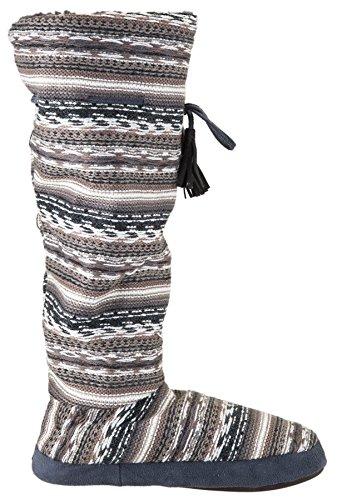 Fairisle Fleece Slipper Cinder Muk Tall Women's Lined Boot Luks PwwxtOq0