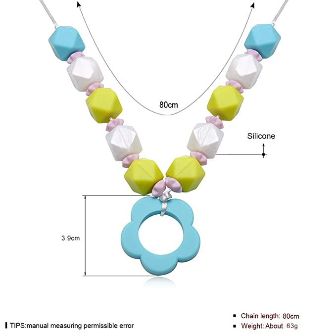 Tbslee Collar De Silicona para La Dentición del Bebé para ...
