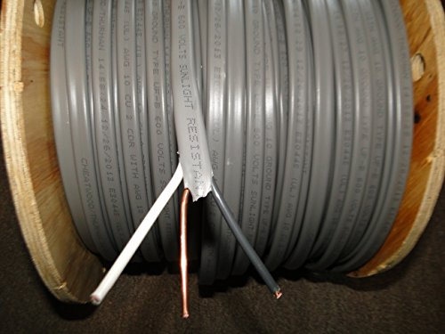 CUT TO LENGTH 14-2 12-2 10-2 UF DIRECT BURY WIRE + GROUND CABLE WIRE 600V COPPER CUT IN 10ft continuous increments: YOU PICK QUANTITY! (50, - 10 Bury Cable Direct