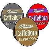 CaffeBora 100 cialde capsule caffè compatibili lavazza a modo mio tre gusti intenso