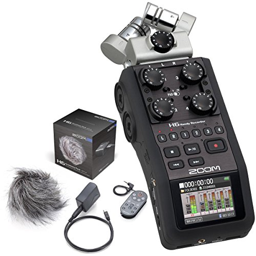 Zoom H6 Portable Recorder w/ Zoom Accessory Pack for H6 by Zoom