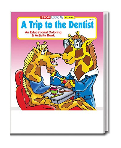 A Trip to the Dentist Kid's Coloring & Activity Book in Bulk (25-pack) - Dental Office Gift / Giveaway Item for Kids