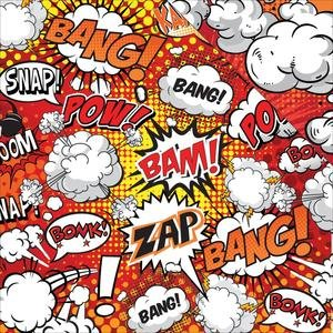 Reminisce - My Super Hero Fight Scrapbook Papers 5pc ()