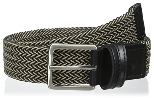 - Dockers Men's 1 3/8 in. Stretch Fabric Braided Belt, Black/Khaki, Large(38-40)
