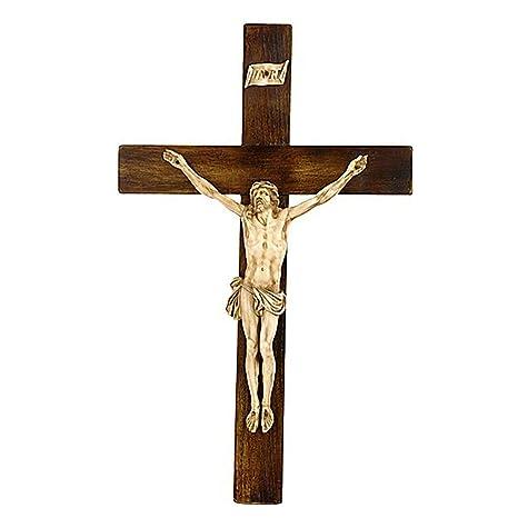 Amazon.com: Crucifijo en estilo siglo XIX, gran tamaño: Home ...