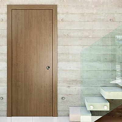 Moderna puerta corredera de bolsillo   Planum 0010 nogal ahumado ...