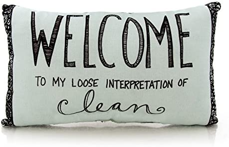 Enesco Our Name Is Mud Pillow Welcome