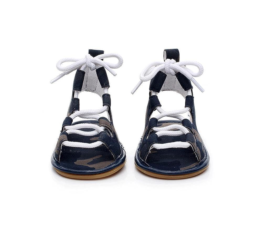 4521f421a6e88 Malloom 0-2 Años bebé Ocasional Sandalias Vendaje Cross-Atado único Cuna  Hueco Zapatos para Niños Niñas  Amazon.es  Zapatos y complementos