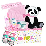 Little Miracles Baby Girl ''Pretty in Pink'' 20 Piece Deluxe Gift Basket, Pink