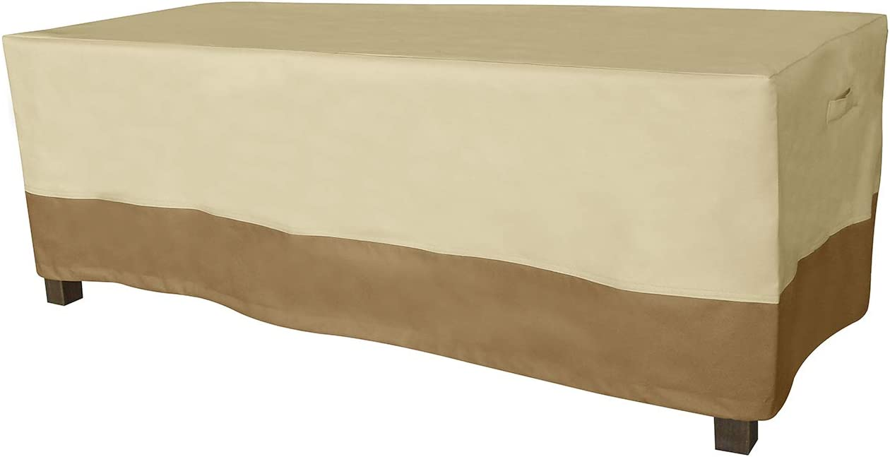Vanteriam Rectangular Patio Coffee Table Cover-Durable and Waterproof Outdoor Furniture Cover, Large Size L48'' x W25'' x H17''