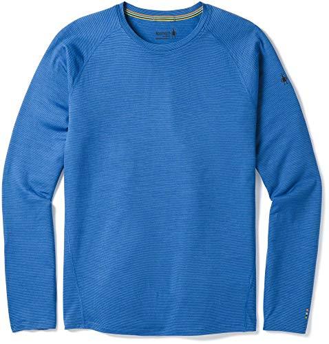 Long Smartwool Crew Underwear - SmartWool Men's Merino 150 Baselayer Pattern Long Sleeve Bright Cobalt Medium