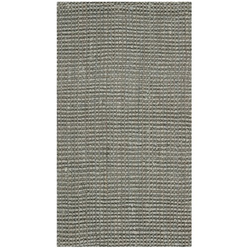 Safavieh Natural Fiber Collection NF730B Hand Woven Grey Jute Area Rug (2' x 3')