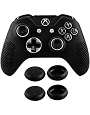 eXtremeRate Soft Anti-Slip Silicone Controller Cover Skins Thumb Grips Caps Protective Case for Xbox One S/X/Elite
