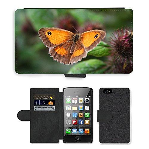 Just Phone Cases PU Leather Flip Custodia Protettiva Case Cover per // M00129061 Papillon animal beau Bug couleur // Apple iPhone 4 4S 4G