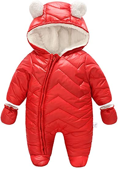 M RACLE Baby Girls Toddler Winter Knited Sleeve Fur Warm Coat Snowsuit Jacket with Hood