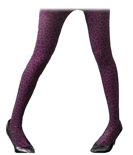 3198a428bfa30 Sexy Leopard Print Dark Purple OpaqueTights Stockings XS ~ M at Amazon  Women's Clothing store: Tights