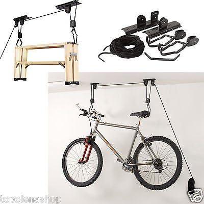 Soporte colgador bicicleta soporte soportes bicicleta techo Garaje Polea Gancho: Amazon.es: Bricolaje y herramientas
