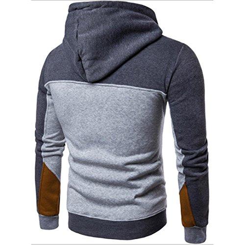 Hombre Chaqueta Invierno Oscuro Herren con Sudadera para Calentar Hombres Gris ♚Btruely Casual Camisetas Capucha Delgado Abrigo gvq1WPqxFw