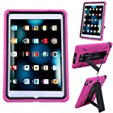 HDE iPad Mini Case Heavy Duty Kid Proof Hybrid Shockproof Hard Protector Cover with Kick Stand for Apple iPad Mini w/ Retina Display (Hot Pink)