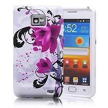 Coque Samsung Galaxy S2 I9100 Motif fleur HOUSSE ETUI CASE COVER