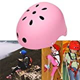 Kaluo Kids Adjustable Protective Safety Helmet for Roller Skate Bicycle Skateboard Hoverboard Extreme Sports Activities(US Stock) (Pink)