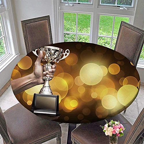 Chateau Easy-Care Cloth Tablecloth Hand Trophy Cup Medal as a Winner in a Competition for Home, Party, Wedding 67