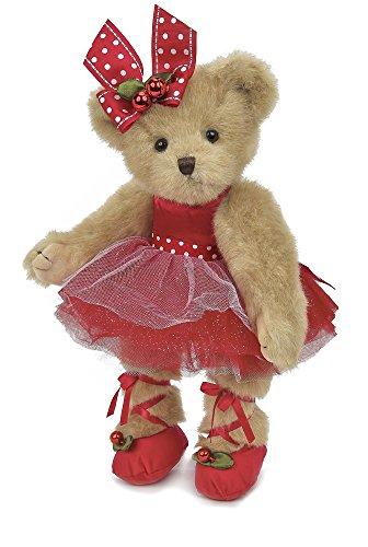 Bearington Clara Ballerina Christmas Plush Stuffed Animal Teddy Bear, 14 inches from Bearington Collection