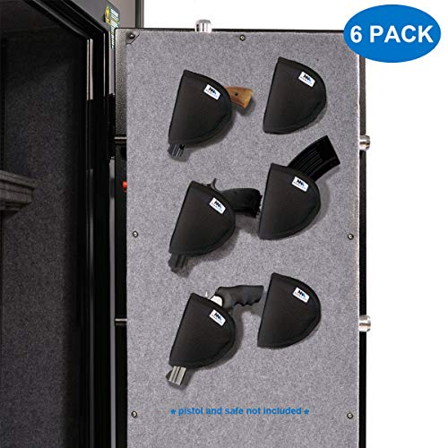 Mind and Action Pistol Holster 6 Pack with Melt Adhensive Velcro, Gun Safe Accessories Handgun Storage