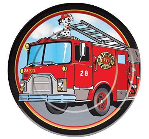 Plate 7 Firefighter - Faerynicethings Firefighter Party 7 Inch Paper Plates - Party Supplies