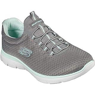 Sketchers - Womens Summits Sneaker, Size: 9.5 W US, Color: Gray/Aqua