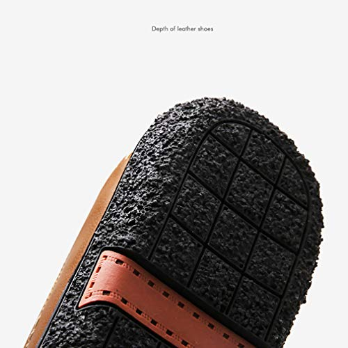 YAN Zapatos de Hombre Zapatos Casual Inteligentes Zapatos de Hombre Mocasines Zapatos de conducción de Cuero para Hombres Marrón Claro, Marrón Oscuro, ...