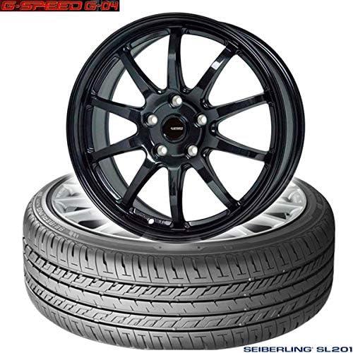 ブリジストン製|セイバーリング SEIBERLING SL201〈225/40R18 92W XL〉&G.speed G-04〈18×7.5 +55 114.3 5H〉|タイヤホイール4本セット