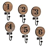 Generic O-8-O-3355-O at Wall Organizer Key zer Key Rack Shelf Storage rage Or 6-Pack Metal Fir ck Shel Hat Wall Hanger arment Garment Coat HX-US5-16Apr11-116