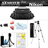 Accessory Starter Kit For The Nikon Coolpix B500, L330, L340, L310, L810 L820, L620, L830, L840 Digital Camera Includes Deluxe Carrying Case + 50 Tripod w/Case + Screen Protectors + Mini Tripod + More