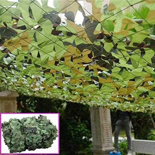 ガーデン偽装網屋外遮光迷彩ネット3x3m緑の日焼け止め隠された軍事装飾を撃つ狩猟