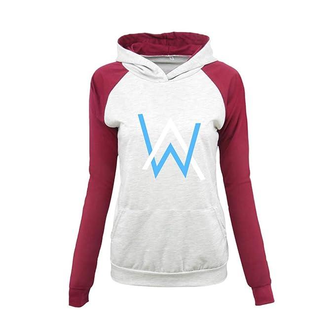 Alan Walker Mujer Sudaderas con Capucha Otoño Invierno Suéter Manga Larga Delgada Jerseys Deportivo Camisetas Cómodo: Amazon.es: Ropa y accesorios