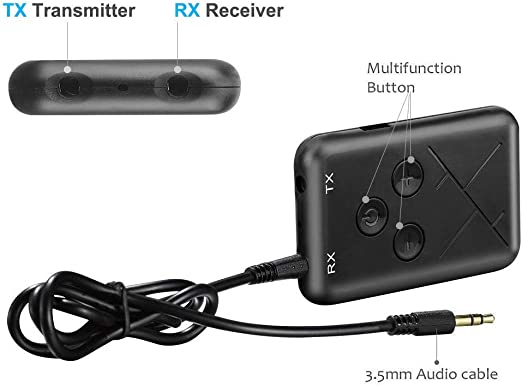 2 in1 bluetooth V4.2 Transmitter Receiver Stereo Audio 3.5mm  Music USB Adapter