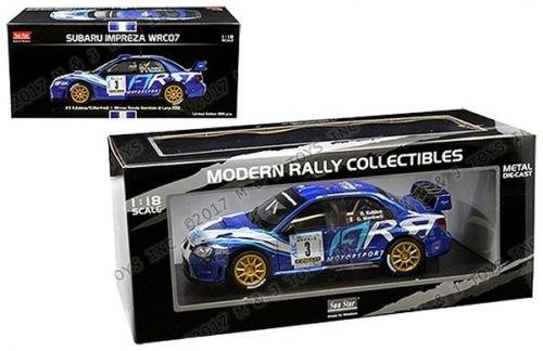 NEN 1:18 SUNSTAR MODERN RALLY COLLECTIBLE - BLUE SUBARU IMPREZA WRC07 - #3 R. KUBICA / G. MANFREDI - RONDE GOMITOLO DI LANA 2012 WINNER Diecast Model Car By SunStar