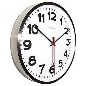 """NeXtime Reloj de pared - Estación de trenes """"SUPER STATION"""", blanco, redondo, ø 55 cm 4"""
